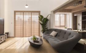 日式原木职业化客厅装修设计