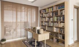 开放式原木书房设计