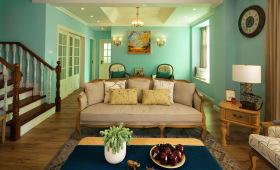 美式传统复古客厅装饰设计