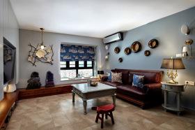 东南亚混搭风简雅客厅设计