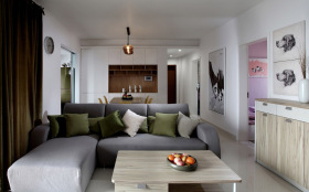 开放式简约客厅设计