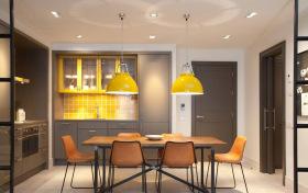 现代半开放式厨房餐厅设计