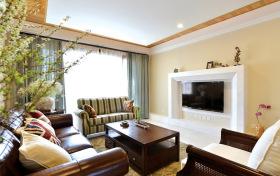 田园美式清新客厅设计
