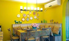 民族风明艳卡座餐厅设计