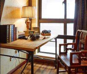 美式复古优雅书房设计