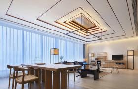 中式全木客厅设计