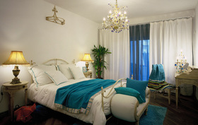 地中海清新卧室风格设计