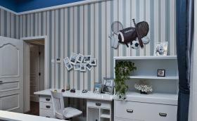 地中海小清新卧室书房设计