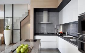 现代简约精致开放式厨房设计