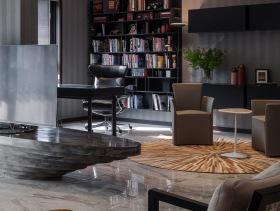 质感欧式三居室效果图