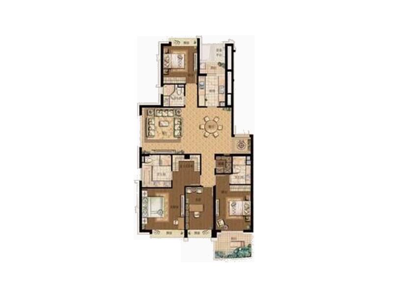四室两厅欧式半包12万