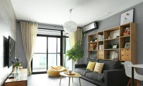 简约原木风年轻化休闲客厅设计