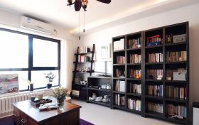 简约舒适书柜装修设计