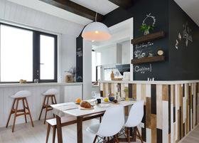 北欧风开放式餐厅书房设计