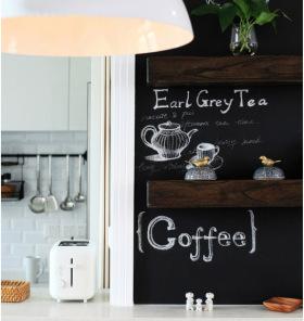 北欧风厨房黑板墙设计