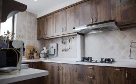美式简约精致复古厨房设计
