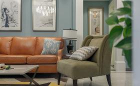 现代美式复古客厅沙发设计