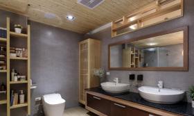 日式原木简约卫生间设计