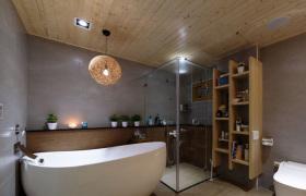 原木风浴室卫生间设计