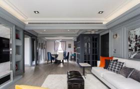 简约现代混搭复古客厅设计