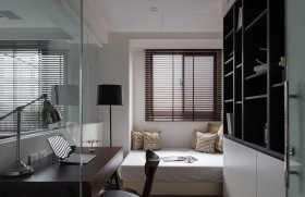 现代理性休憩室书房设计