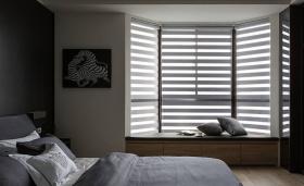 男性化黑白灰卧室装饰设计