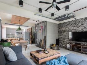 现代工业风艺术客厅设计