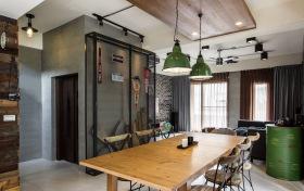 工业风地下暗黑色系餐厅设计