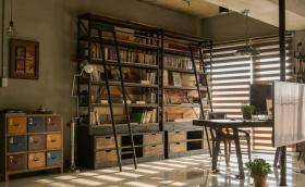工业风男性化书房设计