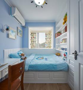 简约小清新蓝色儿童房装饰设计