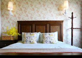 美式田园碎花卧室设计