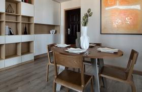 原木风简约餐厅装饰设计