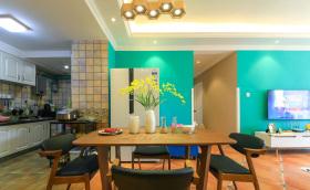 简约餐厅明艳风设计