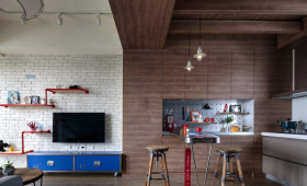经典开放式工业风背景墙设计