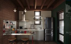 工业风金属感开放式吧台设计