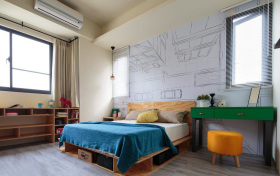 动漫典雅涂鸦卧室装修设计