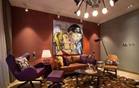 英美摩登客厅设计