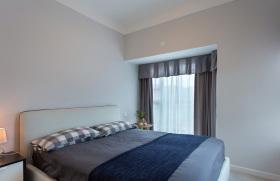 蓝色男性卧室muji风设计