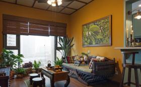 东南亚热带风情浓郁民族风客厅设计