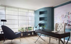 简约现代深色系书房装饰设计