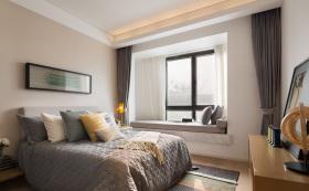 简约宜家日式卧室飘窗设计