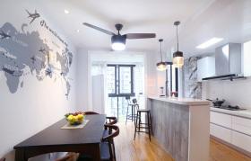 现代开放式厨房餐厅装修设计