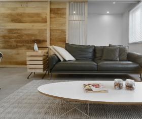 简约原木风整木客厅设计