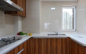 简约现代n字型厨房设计
