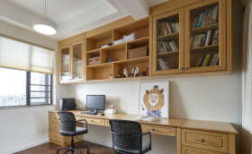 原木风书房装饰设计
