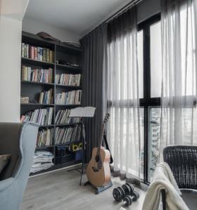 简约现代阳台书柜设计
