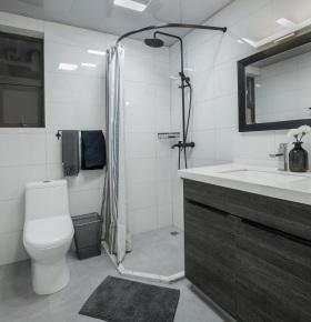 黑白灰性冷淡简约卫生间装饰设计