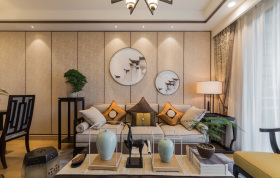 新中式简约客厅设计