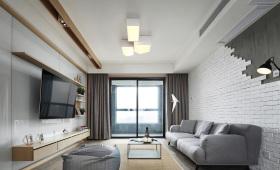 浅灰性冷淡客厅装修设计
