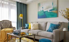 美式典雅浓郁风情客厅设计